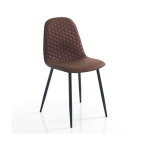 Sada 4 hnědých jídelních židlí Tomasucci Fluffy