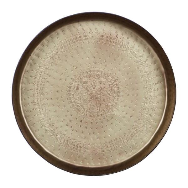 Waitress dekorációs tálca sárgaréz részletekkel, Ø 44 cm - BePureHome