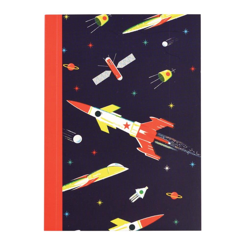 Rakétás vonalas jegyzetfüzet, A6, 60 oldal - Rex London