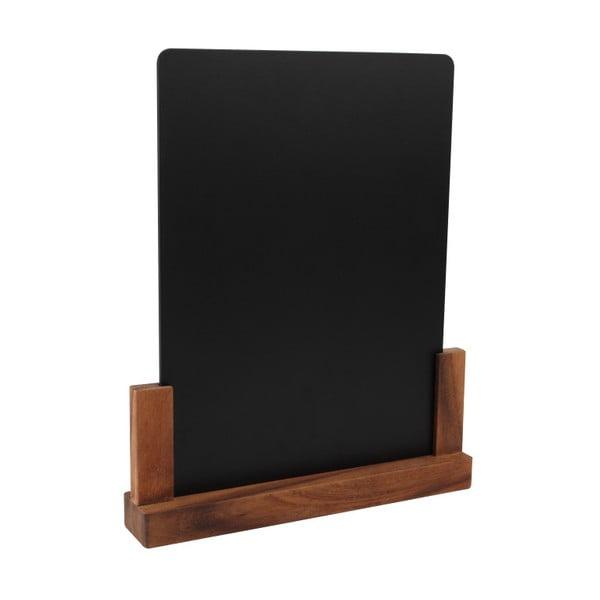 Rustic tábla akácfa állvánnyal, magasság 32 cm - T&G Woodware