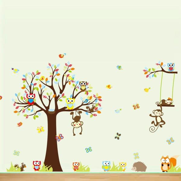 Cute Monkeys Playing On Trees falmatrica szett - Ambiance