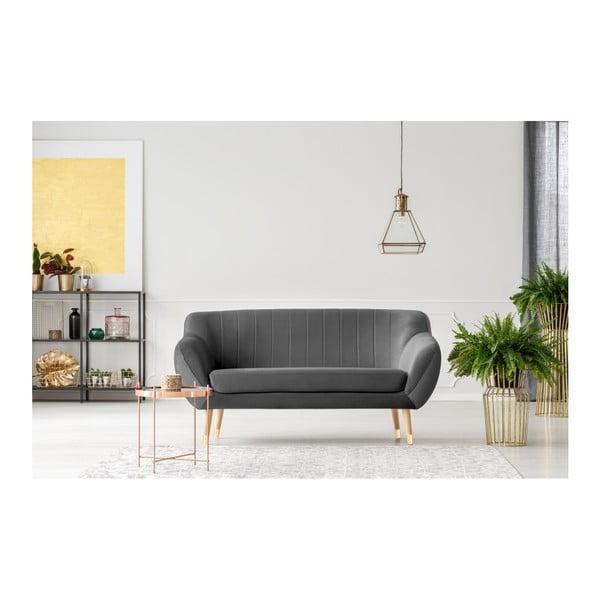 Benito szürke kétszemélyes kanapé - Mazzini Sofas