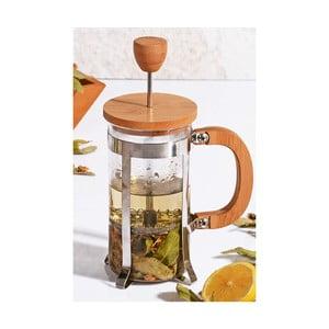 Bisous french press dugattyús kávéfőző bambusz fedéllel, 350 ml