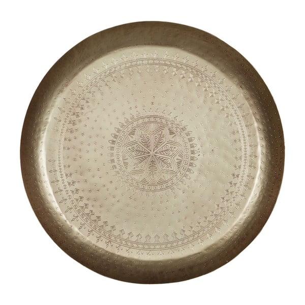 Waitress dekorációs tálca sárgaréz részletekkel, Ø 55 cm - BePureHome