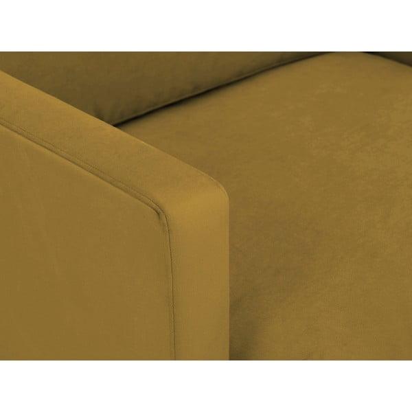 Jupiter sárga fotel, fekete lábakkal - Windsor & Co Sofas