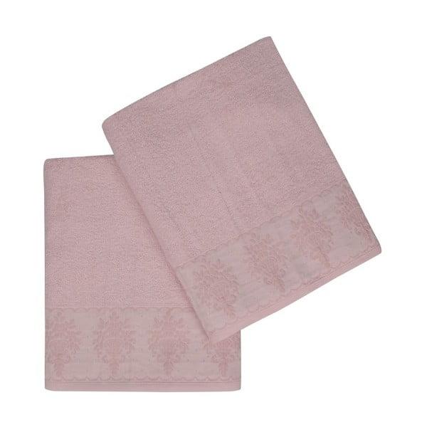 Victorian 2 darabos rózsaszín fürdőlepedő szett, 150 x 90 cm