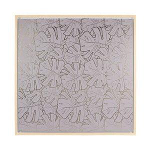 Nástěnný obraz Santiago Pons Gray Leaves, 104x104cm