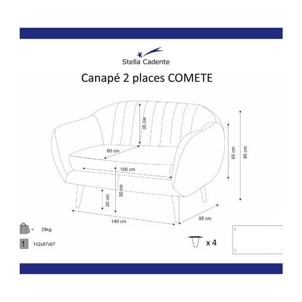 Comete türkizkék kétszemélyes kanapé - Scandi by Stella Cadente Maison