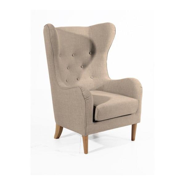 Linen világosbarna füles fotel - Max Winzer