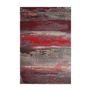 Koberec Eco Rugs Red Abstract, 80x150cm