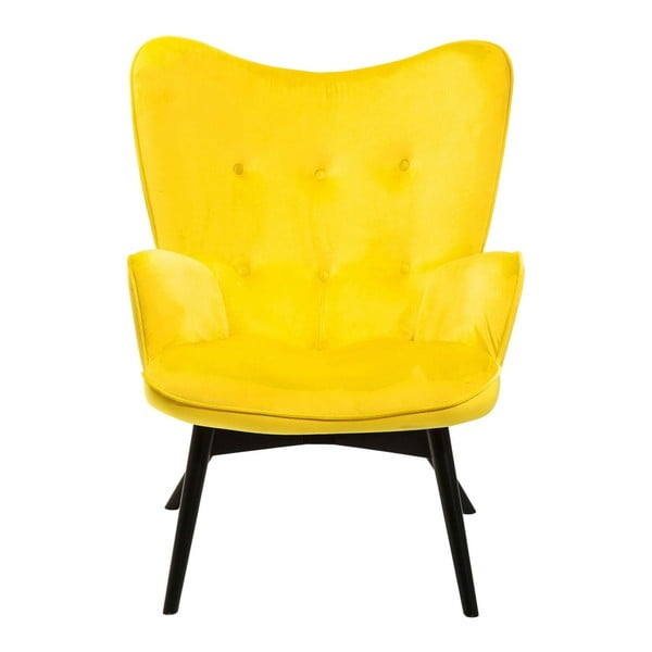 Vicky Velvet sárga fotel - Kare Design