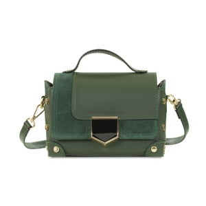 Tmavě zelená kožená kabelka Infinitif Chelsea