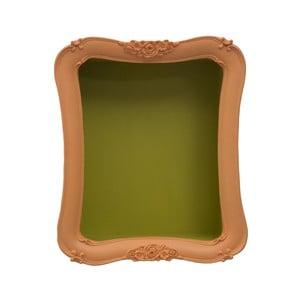 Arancio Simple narancssárga polc zöld részletekkel - Mauro Ferretti