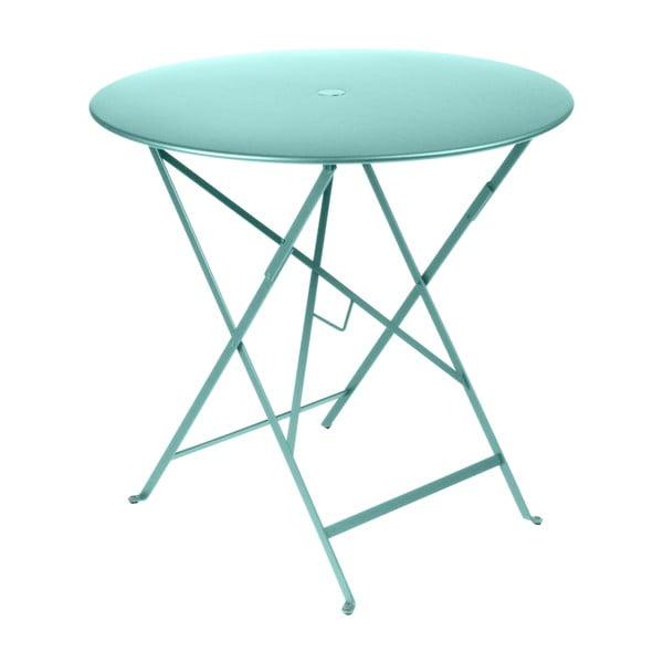 Bistro kék kerti kisasztal, ⌀ 77 cm - Fermob