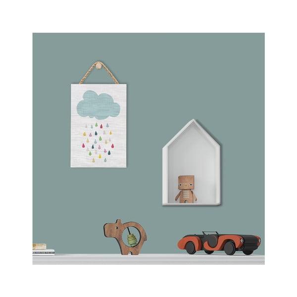 Eső mintás fali dekoráció, 20 x 30 cm - KICOTI