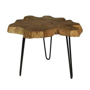 Bollei tárolóasztal teakfa asztallappal, Ø 55 cm - HSM collection