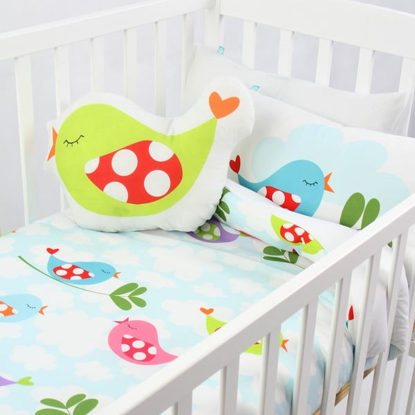 Little Birds gyermek pamut ágynemű- és párnahuzat garnitúra, 100 x 120 cm - Mr. Fox