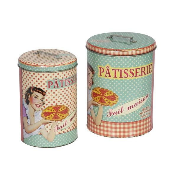 Patisserie retró kerek edény szett, 2 db-os - Antic Line