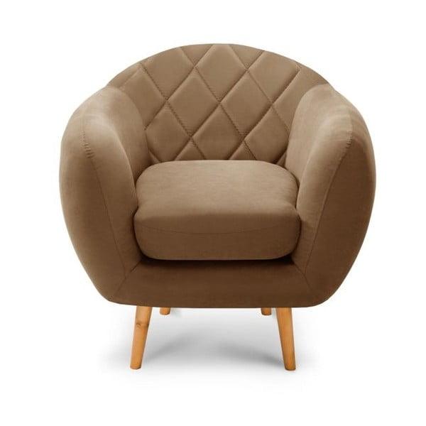 Diva világosbarna fotel - Scandi by Stella Cadente Maison