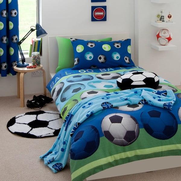 Football kék gyerek ágyneműhuzat, 135 x 200 cm - Catherine Lansfield