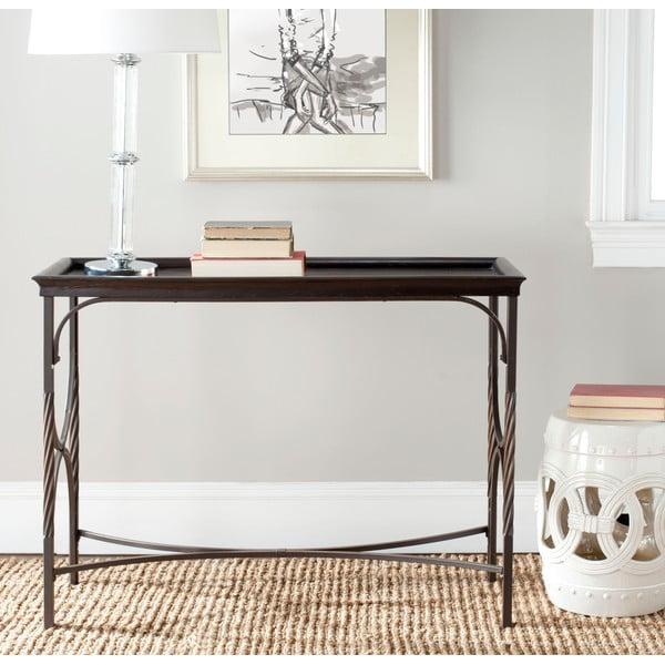 Antique White fehér kültéri kerámia asztal, ø 33 cm - Safavieh