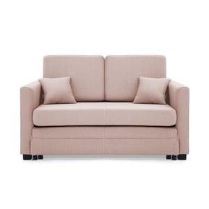 Brent világosrózsaszín kétszemélyes kinyitható kanapé - Vivonita
