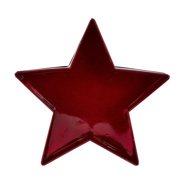 Csillag alakú piros tál, 26,5 cm - KJ Collection