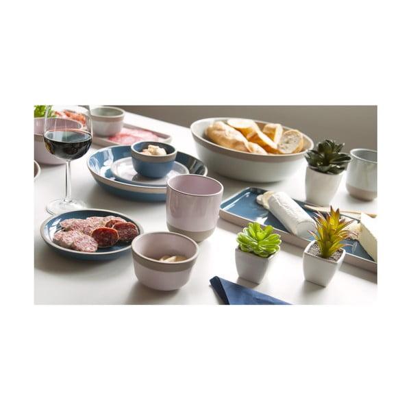 Brisk kék terrakotta felszolgáló tányér, 36 x 16 cm - PT LIVING