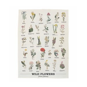 Wild Flowers pamut konyharuha, 50 x 70 cm - Gift Republic