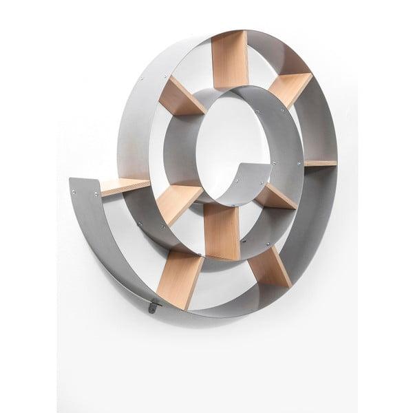 Snail szürke fali könyvespolc - Kare Design