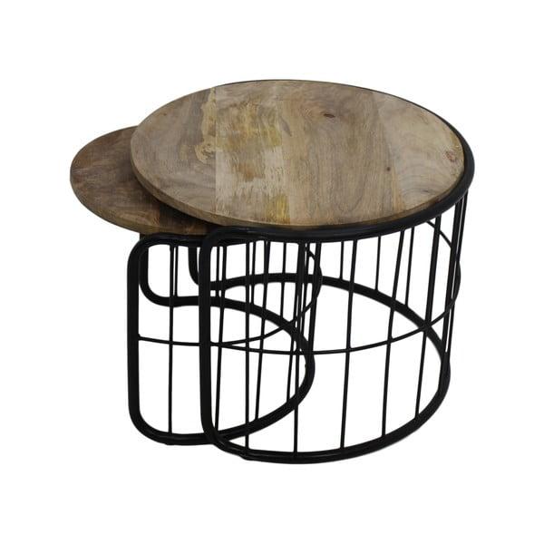 Salon mahagóni dohányzóasztal, 2 db - HSM collection