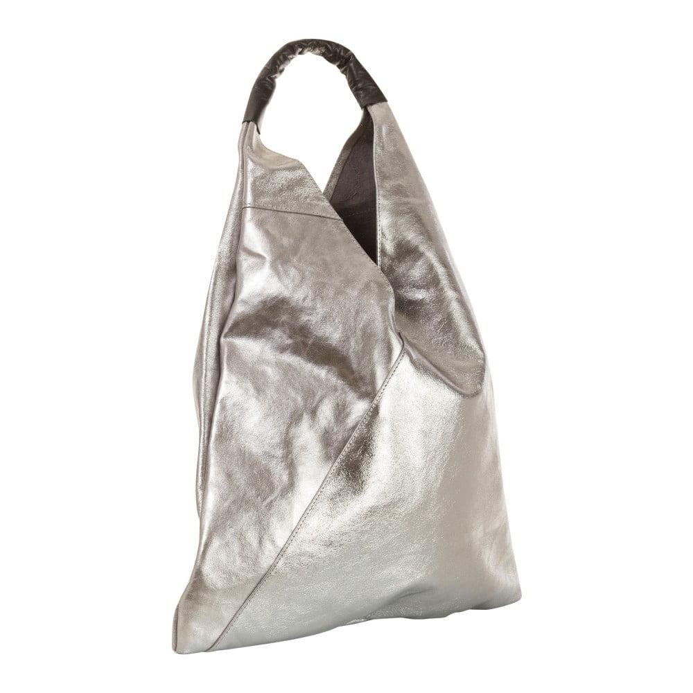 Panna Leather ezüstszínű valódi bőr kézitáska - Andrea Cardone  197d13acc1