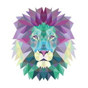 Origami Lion öntapadós matrica - Ambiance
