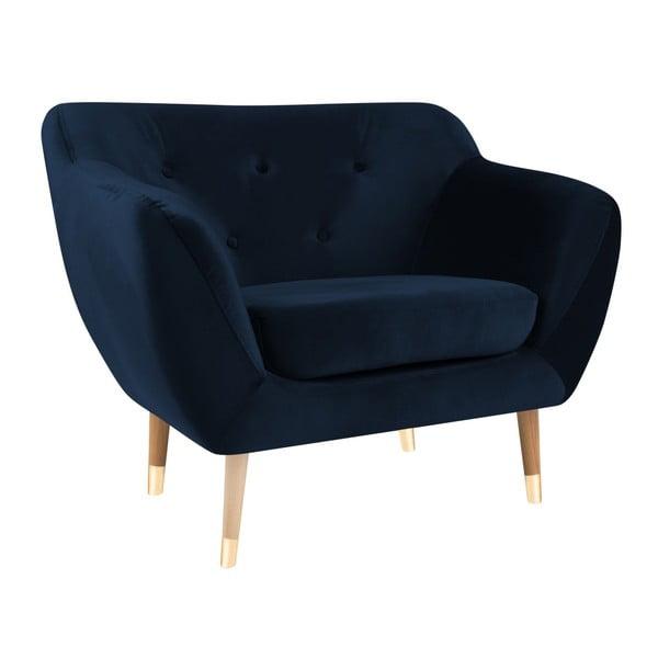 Amelie sötétkék fotel - Mazzini Sofas