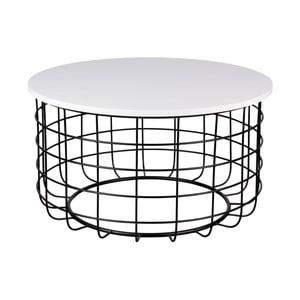 Celso fekete-fehér dohányzóasztal, ø 80 cm - sømcasa
