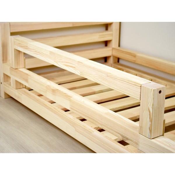 Safety természetes fenyő ágyra szerelhető oldalfal, hosszúsága 90 cm - Benlemi