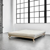 Senza Bed Natural ágy, 160 x 200 cm - Karup