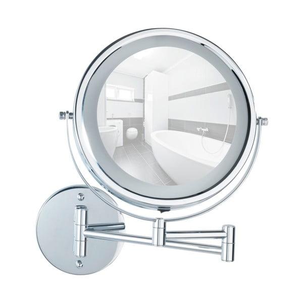 Lumi falra szerelhető nagyítós tükör, LED világítással - Wenko