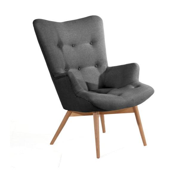 Aiko antracitszürke fotel - Max Winzer