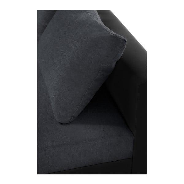 Aventure fekete-antracit kanapé, jobb oldalas - Interieur De Famille Paris