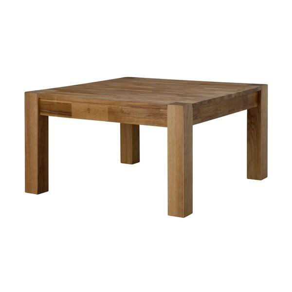 Turbo dohányzóasztal tölgyfa asztallappal, 80x80cm - Actona