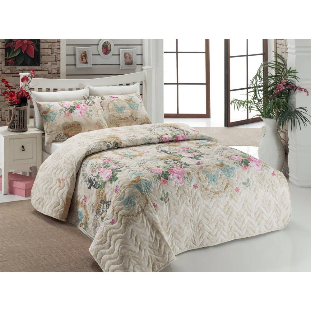 Angel Beige ágytakaró és párna szett c33b0539f4