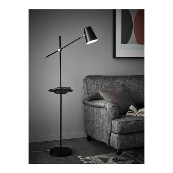 Linear fekete állólámpa tárolóhellyel - Markslöjd