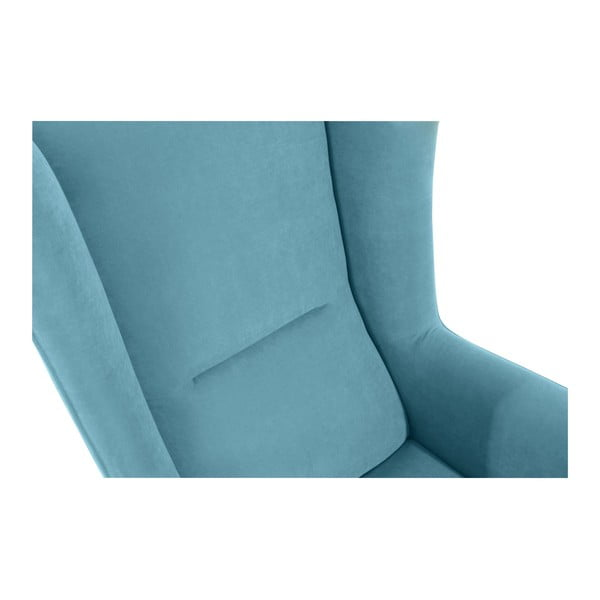 Bruno Velor petróleum kék füles fotel - Max Winzer