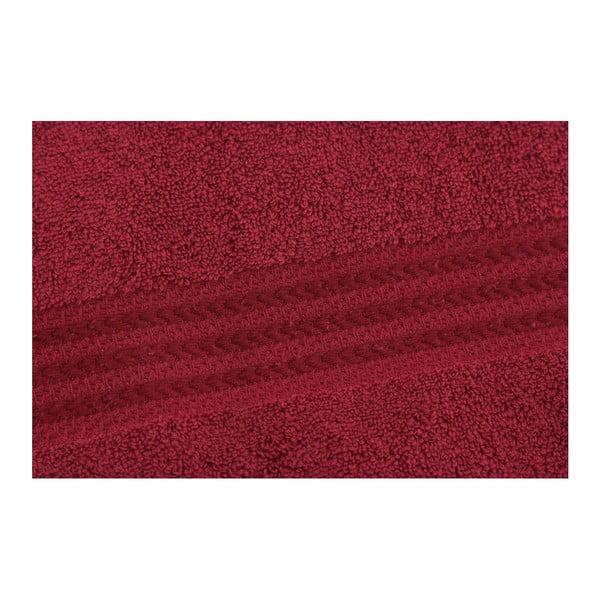Rainbow Red piros törölköző 100% pamutból, 50 x 90 cm