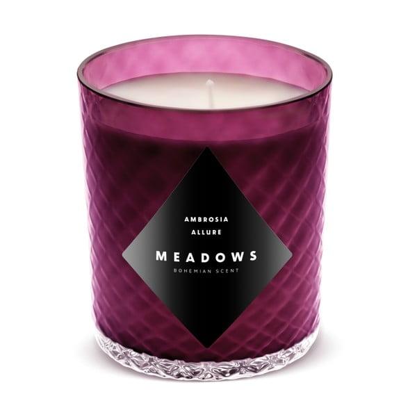Ambrosia Allure fekete ribizli, szőlő és mandarin levél illatú gyertya, égési idő 60 óra - Meadows