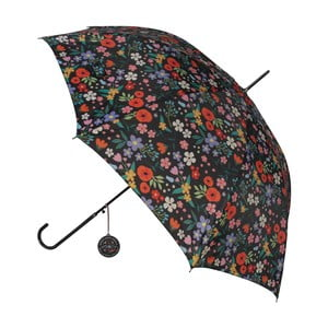 Flower fekete esernyő színes részletekkel, ⌀ 100 cm