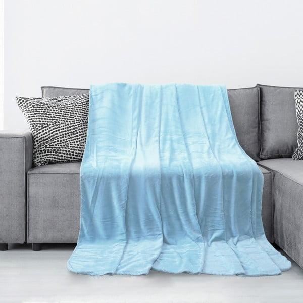Tyler világoskék mikroszálas takaró, 170 x 200 cm - AmeliaHome