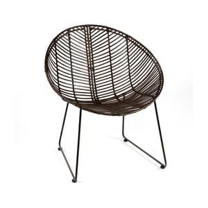 Fekete fonott szék - Thai Natura