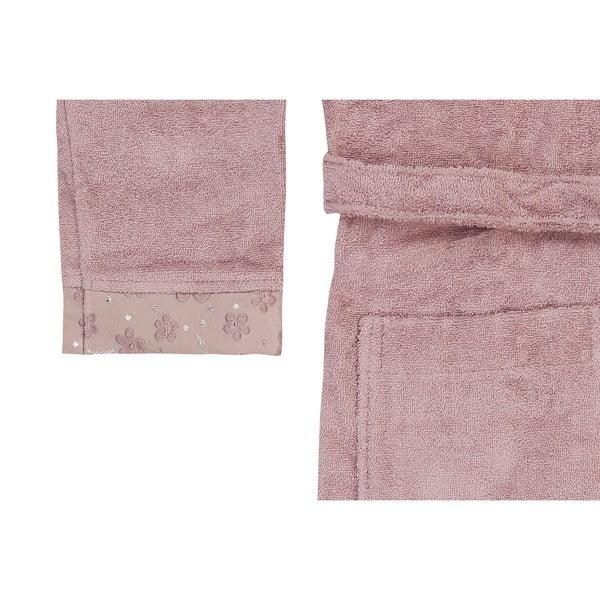 London lila fürdőköpeny és törölköző szett